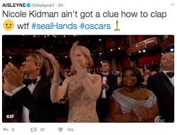 Clapping Meme - oscars 2017 why can t nicole kidman clap actress gets social media