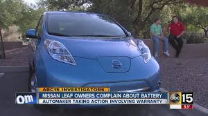 nissan leaf replacement battery cost nissan leaf owner complain about battery problems youtube
