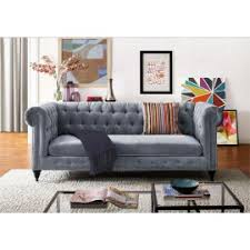 Velvet Tufted Loveseat Sofas