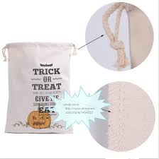 Personalized Cotton Candy Bags 50pcs Dhl New Halloween Sacks Bag Canvas Personalized Children