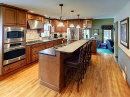 One Wall Kitchen With Island Designs Kitchen Popular One Wall Kitchen Layout With Island Designs