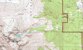 topographic map of chasm lake and longs peak rocky mountain
