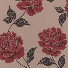 colours ella cream u0026 red floral wallpaper departments diy at b u0026q