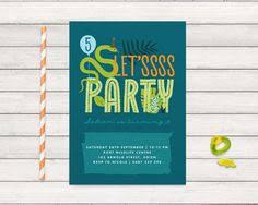snake and lizard birthday invitation set kids by oliveandstar