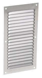 grille aeration chambre grille de ventilation aluminium à visser rectangulaire verticale