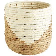 mila natural wicker waste basket pier 1 imports
