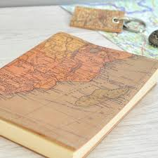 leather map personalised map leather journal by atlas i notonthehighstreet com