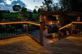 Outdoor Led Lighting Strips by Lights For Deck Railing And Under Rail Odyssey Led Light Strips By