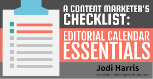 content marketer checklist for content editorial calendars