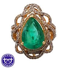 natural diamond rings images Exclusive emerald cocktail diamond ring gleam jewels jpg