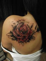 rose tattoo by tartu tatoo
