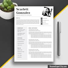 Professional Cv Template Professional Resume Template Cv Template Word Us Letter And A4