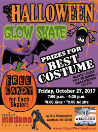 Halloween Books For Adults 2017 by Halloween Glow Skate Calendar Month View City Of Westland Mi