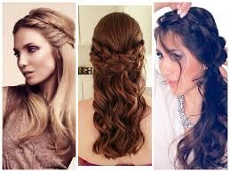 braided hairstyles with hair down half down braids medium hair styles ideas 43092