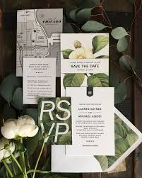 chicago wedding invitations modern botanical chicago wedding invitations