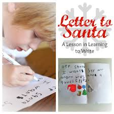 letter to santa a lesson in learning to write i can teach my child
