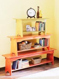 bookcase bench how to make a stacked bench bookcase better homes gardens