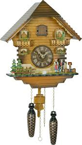 Modern Coo Coo Clock Cuckoo Clock Quartz Movement Chalet Style 31cm By Trenkle Uhren
