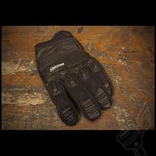 vintage motocross gloves black icon super duty 2 gloves