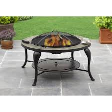 slate fire pit table better homes gardens bhg slate fire pit table walmart com