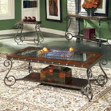 Glass And Wood Coffee Tables Shop Steve Silver Company Ellery Glass Coffee Table At Lowes Com
