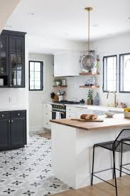 tile floors pictures of white kitchens with dark floors