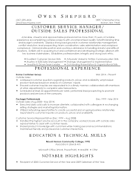 Resume For Customer Service Rep Customer Resume Customer Service Manager