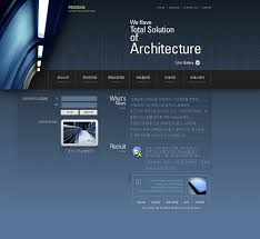 korea a construction company home page template website templates