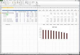 Bell Curve Excel Template Excel Model Costs Spent Bell Curve Interest Reserve