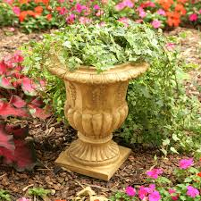 Topiary Planters - round resin traditional topiary urn planter hayneedle