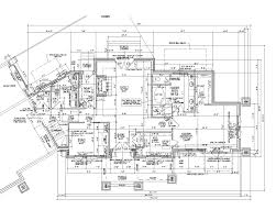 How To Draw Floor Plan In Autocad by House Blueprint Architectural Plans Architect Drawings For Homes
