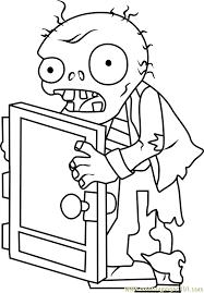 screen door zombie coloring free plants zombies