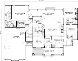 split house plans plan 59377nd spectacular split bedroom house plan kitchen floor