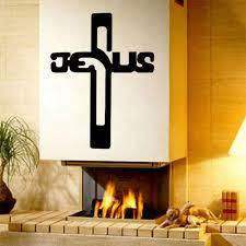 cross home decor aliexpress com buy cross wall sticker home decor god vinyl wall