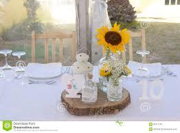 Sunflower Centerpiece Sunflowers Centerpiece Table 10 Ten Decoration Stock Photo