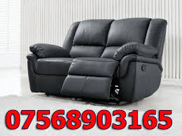 2 Seater Reclining Leather Sofa Sofa 2 Seater Recliner Leather Sofa Black End Of Line 2 In