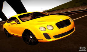 bentley yellow bentley continental supersports for gta san andreas