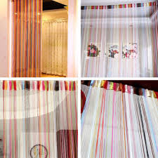 aliexpress com buy rainbow color string line curtain french