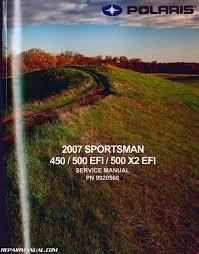 polaris sportsman 450 500 x2 efi atv repair manual