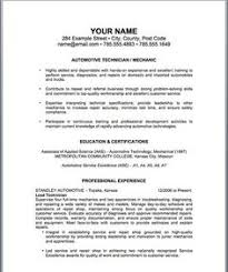 Automotive Resume Examples by Download Automotive Technician Resume Haadyaooverbayresort Com