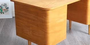 bureau 130 cm bureau bois blond style danois 1950 vendu room 30