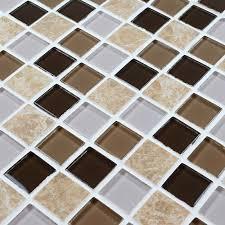 Glass Mosaic Tiles Crystal Glass Tile Sheets Kitchen Backsplash - Tile sheets for kitchen backsplash