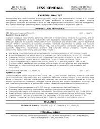 Senior Financial Analyst Sample Resume by Resume Objective For Business Systems Analyst