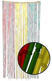 Bamboo Door Beads Curtain by Beaded Curtains Rasta Beaded Bamboo Curtain