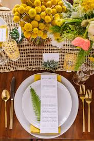 Beautiful Place Settings Mid Century Wedding Inspiration In Bold And Beautiful Brights