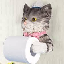 Animal Toilet Paper Holder Adorable Cat Image Resin Toilet Paper Holder Beddinginn Com