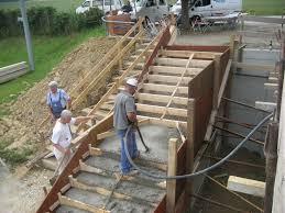 treppe betonieren zum arbeitsplan