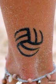 volleyball leg u0027s sport tattoo tattoomagz