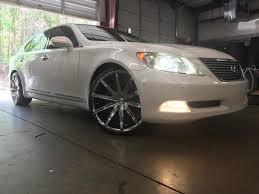 lexus ls 460 custom rimtyme custom wheels u0026 tires u2014 2007 lexus ls460 sitting on 22