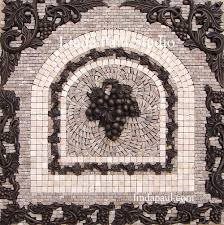 Kitchen Backsplash Mural Grapes Mosaic Tile Medallion Kitchen Backsplash Mural Mosaics